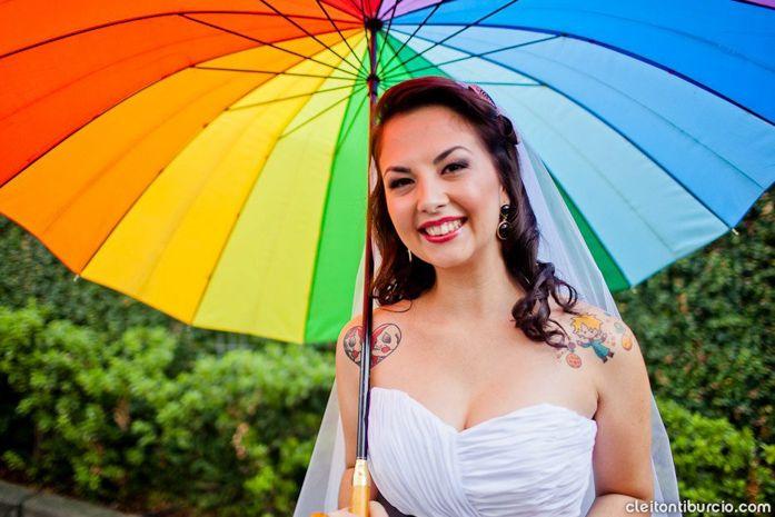 Casamento lúdico do casal de palhaços: Anabelly e André - Blog Aliança Rebelde, casamento colorido, circo, palhaços, noiva, noivo, noiva tatuafa, tatuagem do pequeno príncipe
