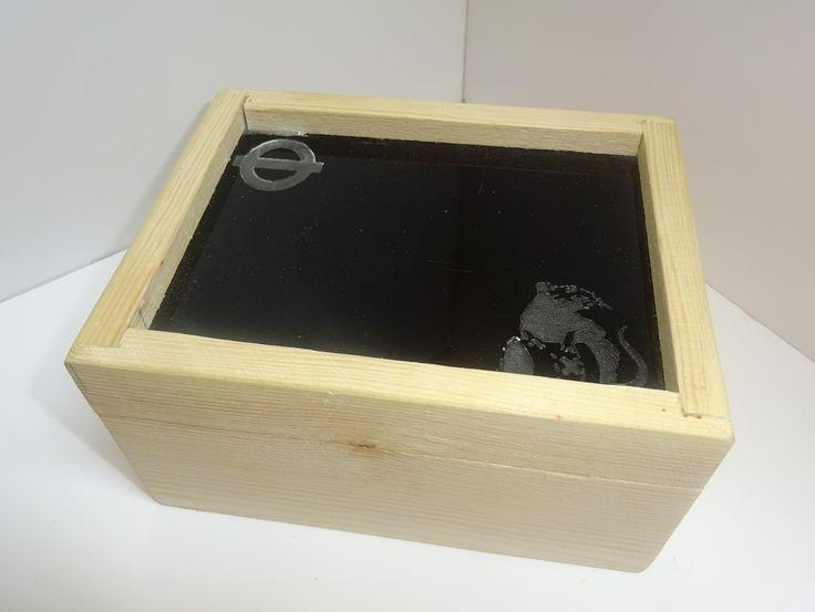 TM wooden box.