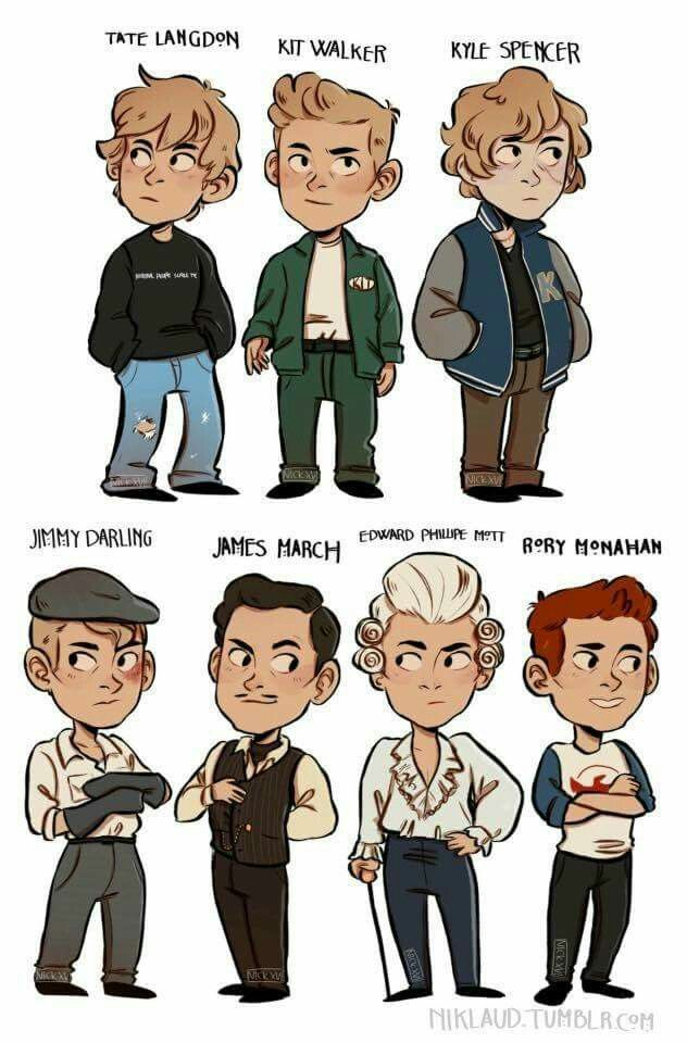 Love this!!!! Fan art of all of Evan Peters' Characters in AHS 1-6