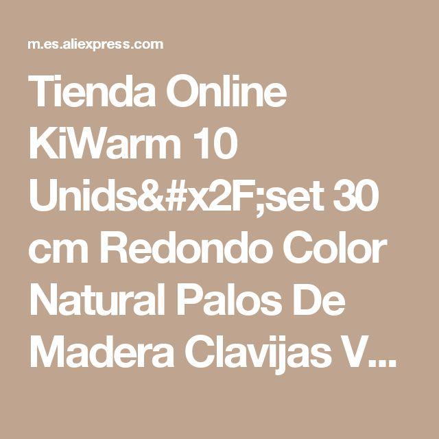 Tienda Online KiWarm 10 Unids/set 30 cm Redondo Color Natural Palos De Madera Clavijas Varillas de Polo Para El Jardín de DIY Decoración de Accesorios 7 Tamaños | Aliexpress móvil