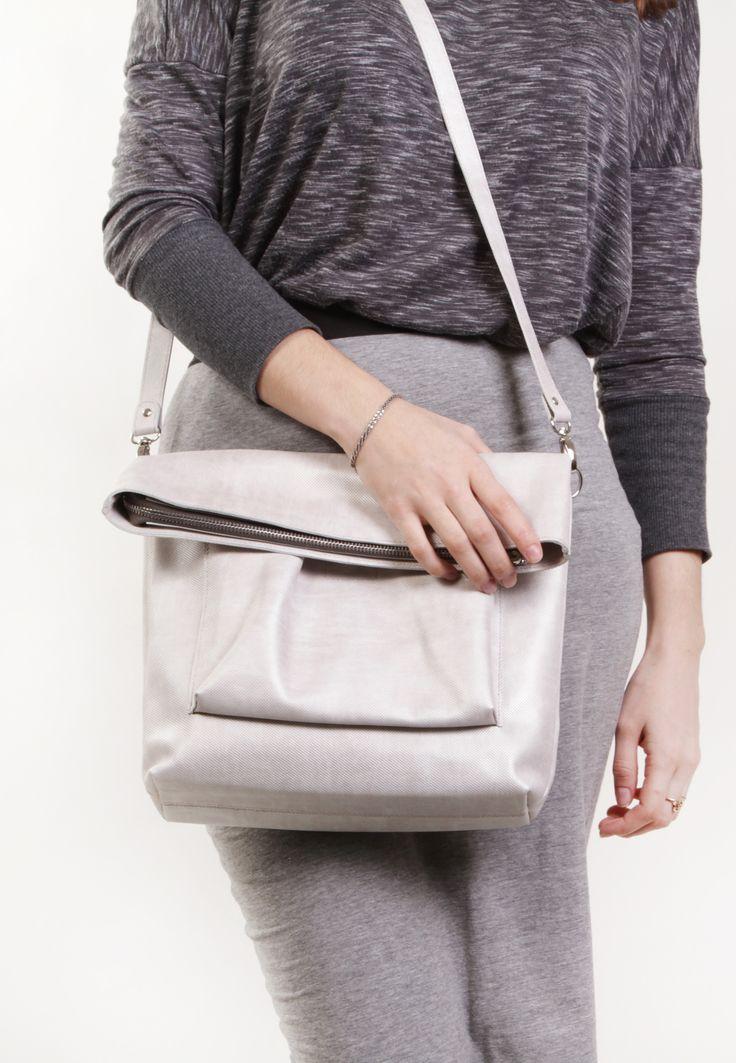 "Beige Leather Bag ""Ursula Perola"", Beige Cross Body Bag , Leather Cross Body, Leather Crossbody Purse, Leather Shoulder Bag by A-Rada"