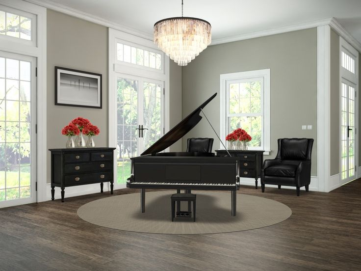45 best grand piano room and library images on pinterest - Baby grand piano living room design ...