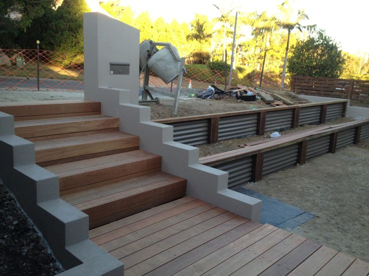 corrugated retaining wall. Scenic Scapes Landscaping - Retaining Walls
