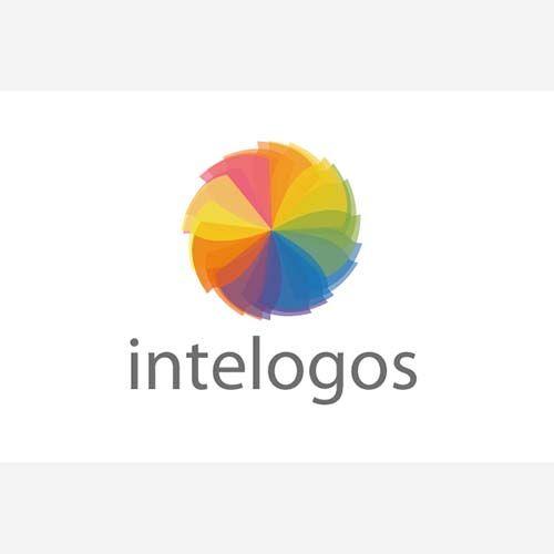 Цветовой круг дизайн логотипа вектор скачать