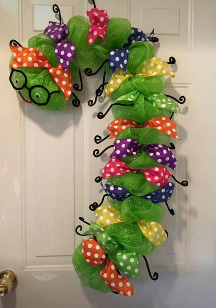 Bookworm wreath