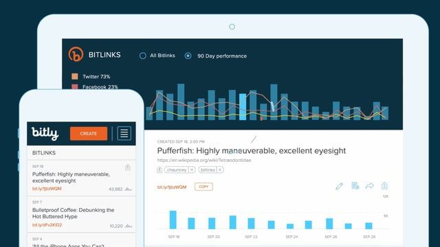 Bitly is a link management platform that allows you to use the fundamental unit of the web - the link - to integrate data from your marketing channels and campaigns into one easy-to-use dashboard. With your customer data all in one place, you can create unforgettable customer journeys and own your customer experience from start-to-finish.