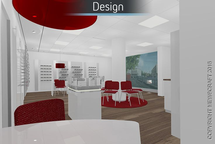 Castle Opticians - Mewscraft #interiordesign #design #commercialdesign #retaildesign #shopfitting #refitting #officedesign #office #interiors #digital #renders #digitaldesign #flooring #seating #aspirational