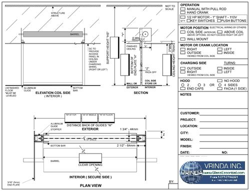 Shop Drawing - Security Rolling Grille for Shops, and organisation window and door security : http://www.glassessential.com/rolling-grille  #rollinggrille #grille #securitygrille #rollingsecuritygrille  #glassessential #glassessential.com