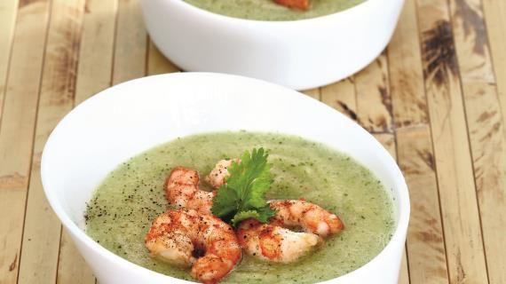 Фруктовый суп с креветками