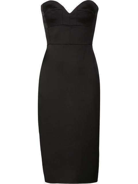 VICTORIA BECKHAM strapless bustier dress. #victoriabeckham #cloth #dress