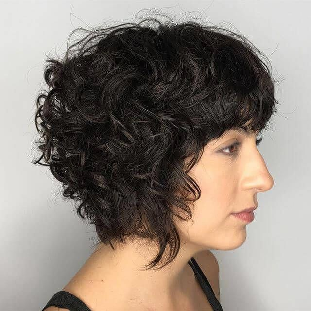 50 Short Curly Hair Ideas To Step Up Your Style Game Hairstyleforshortcurlyhair Shortcurlyhairstyle Curly Hair Styles Short Hair With Bangs Short Wavy Hair