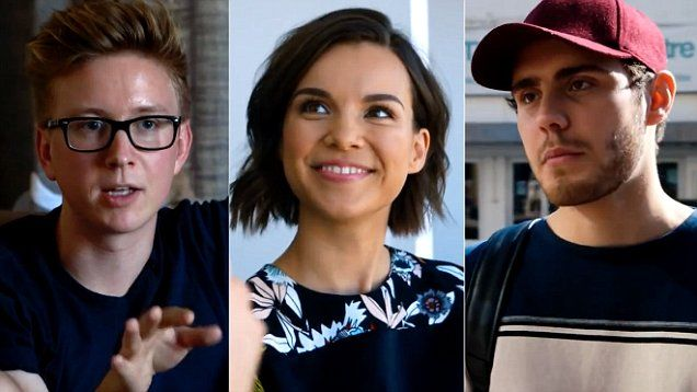 World famous YouTubers in new BBC Three doc Rise of The Superstar Vloggers.
