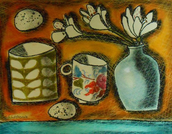 Exhibitions -Susan Gathercole - New Paintings- Martin Tinney Gallery - Tamsin Thomas' Flowers