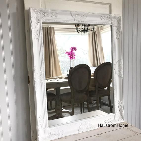 Shabby Chic Wall Mirror White Mirrors Pinterest Shabby chic