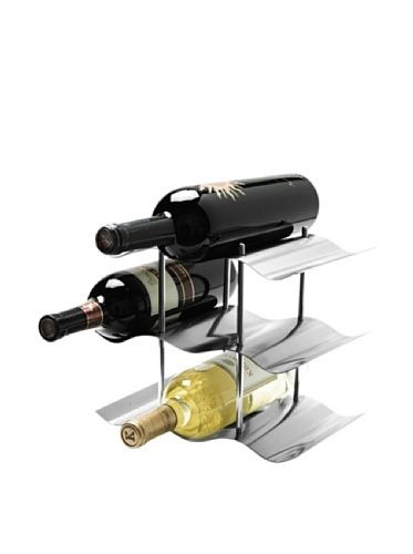 Captivating Oggi 9 Bottle Stainless Steel Wine Rack, Silver By Oggi. $21.53. Wavy Metal
