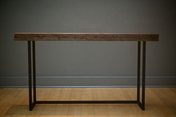 Sofa/Hall table welded steel and salvaged by donyacovella on Etsy, $350.00