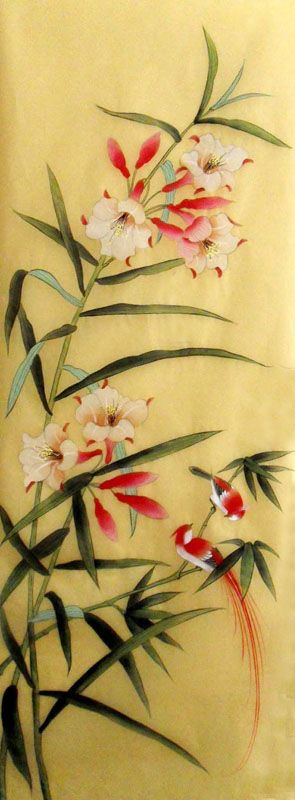 Lilies, by Jian Feng -- Chinese Painting