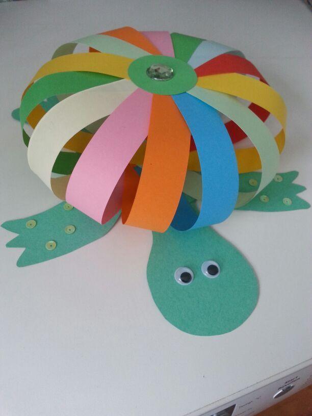 Regenboogschildpad, leuk om te knutselen met de kinderen!