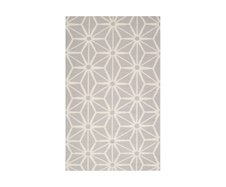 Tapis ALICE Laine, Taupe et ivoire - 168*106 | Westwing Home & Living