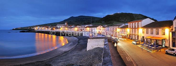 São Mateus (Praia) at night. Graciosa, Azores islands, Portugal