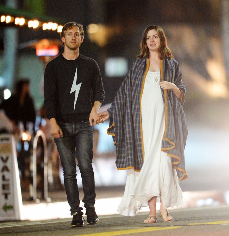 Pregnant Anne Hathaway Goes Boho Chic on Casual Date Night with Husband Adam Schulman from InStyle.com