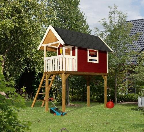 karibu stelzenhaus gernegro kastanienrot stelzenhaus. Black Bedroom Furniture Sets. Home Design Ideas