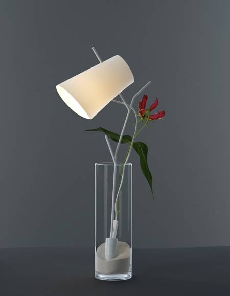 The Limited Edition Ramo Lamp, By Milan Based Design House Modoloco, Sits  Like A Cut Flower In Its Vase Like Container, With The Power Cord Running  Up Its ...