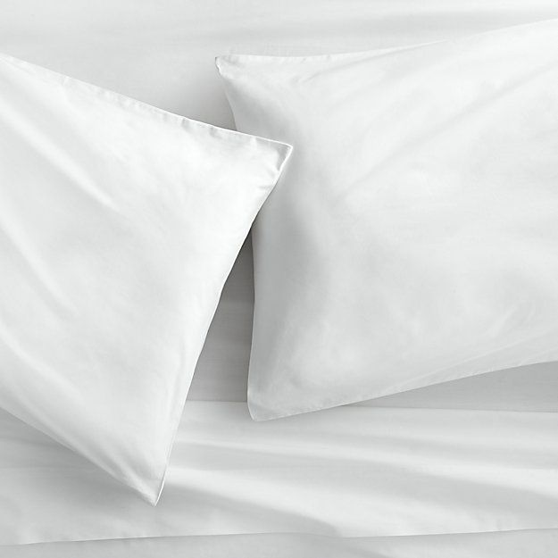 organic white percale queen sheet set