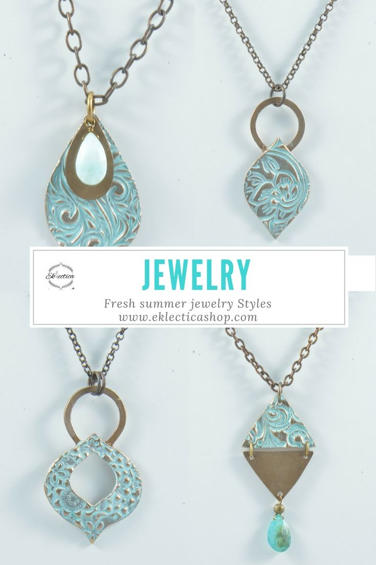 Turquoise Patina jewelry that are handmade and unique. Shop Canadian handmade products on www.eklecticashop.com