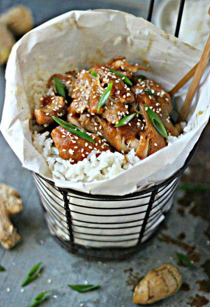 Pineapple Shoyu Chicken with Coconut Jasmine Rice   The Gourmet RD