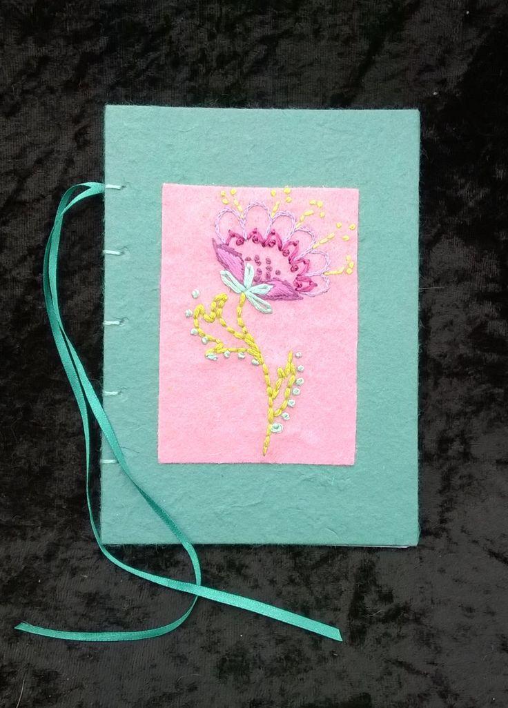 Notebook Journal A6 Handmade by LittleBowBeads on Etsy