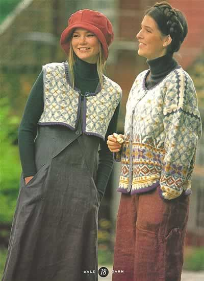 Colorful Norwegian knit fashion