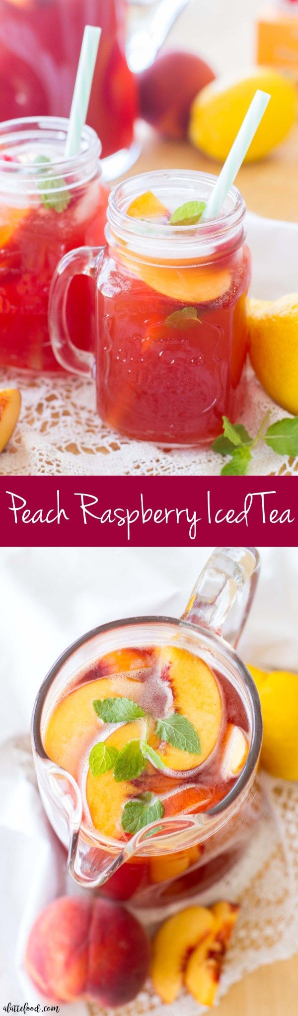 Peach Raspberry Iced Tea