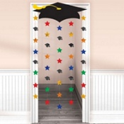 Cap and Stars Graduation Door Decoration 66in