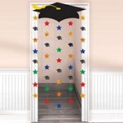 Cap and Stars Graduation Door Decoration 66in