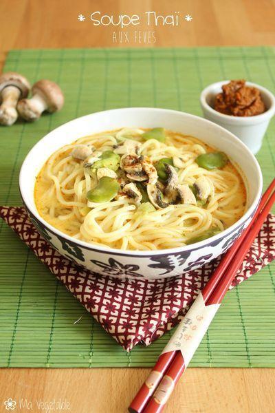 Soupe thaï aux fèves - Ma Végétable