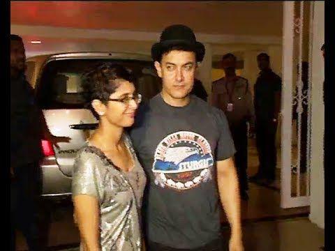 Aamir Khan with wife Kiran Rao @ Karan Johar's 42nd Birthday Party.