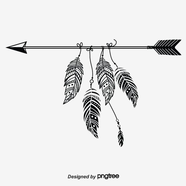 Simple Retro Arrow Elements With Black Feathers Lovely Bohemian Simplicity Png Transparent Clipart Image And Psd File For Free Download Black Feathers Arrow Clipart Feather Graphic