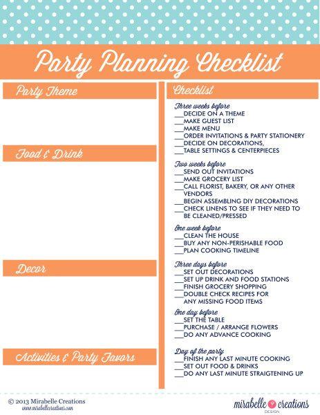 Best 25+ Party planning checklist ideas on Pinterest Birthday - birthday party checklist template