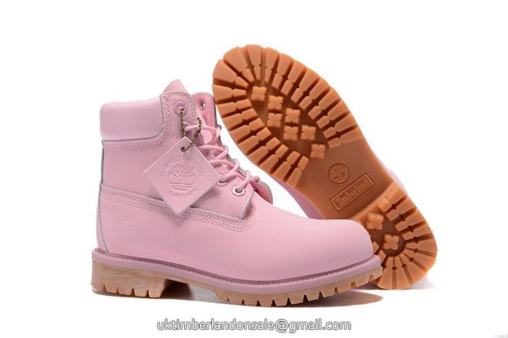UK Timberland Girl's 6 Inch Premium Baby-Pink Boots for Kid £ 60.79