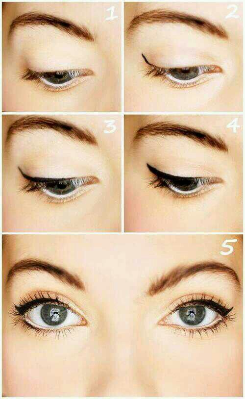 do this minus the wing liner if yuor new at make up