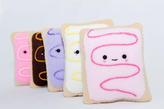Pop Tart Plushy-Pop Tart by Gitanaflipflops on Etsy