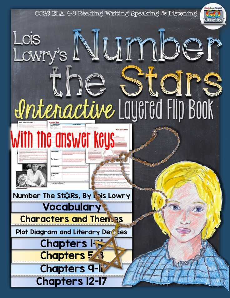 Number the Stars by Lois Lowry: Interactive Layered Flip Book ($)                                                                                                                                                                                 More