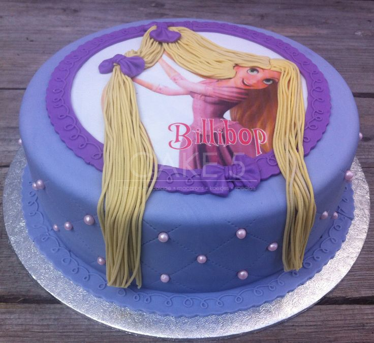 Rapunzel cake - I love the spaghetti as hair!!