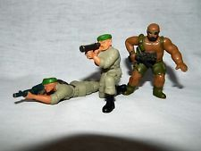 Lot 3 VTG 1986 Mattle GUTS Army military Green Berets & Jungle Fighter Figures