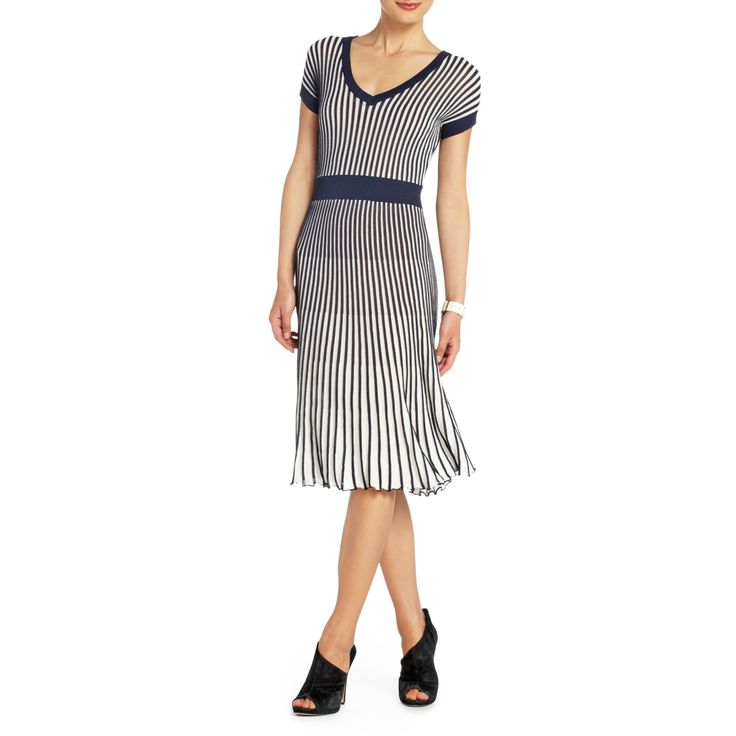 BCBGMAXAZRIA -BIELLA PLEATED KNIT DRESS