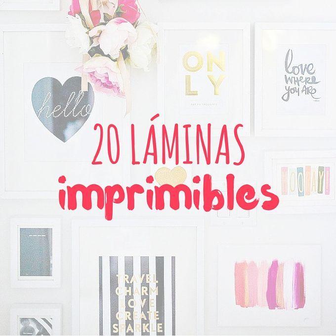 20 l minas imprimibles para tus paredes bonitas cara for Laminas vinilicas para paredes
