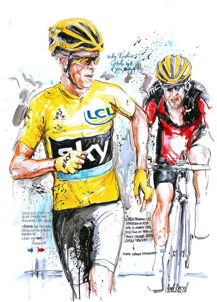 I'm not a Froome fan but I'll never forget the sight of him running up Mount Ventoux . Vive Le Tour !