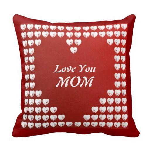 #Zazzle Love You Mom American Mojo Pillow by elenaind
