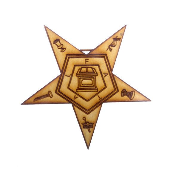 Order of the Eastern Star Ornament  Eastern by PalmettoEngraving